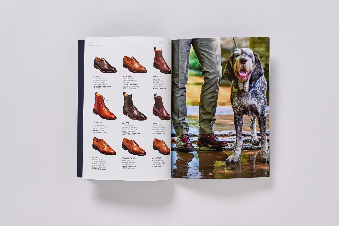 Barker Shoes – Retail catalogue – Inside spread