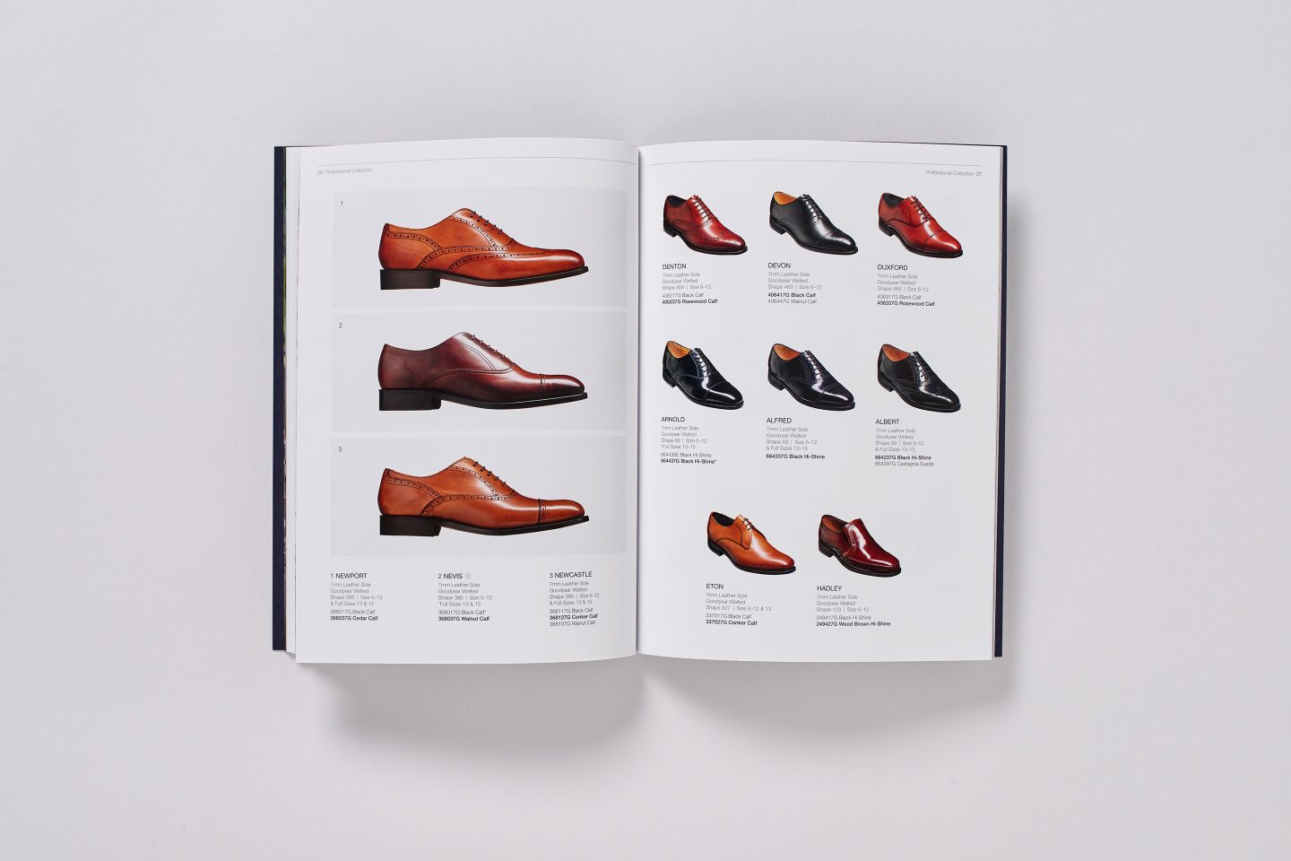 Barker Shoes – Retail catalogue –Inside spread