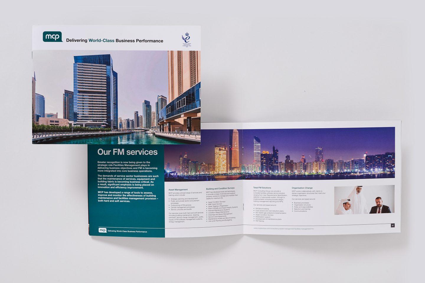 MCP – UAE corporate brochure – Front cover and spread