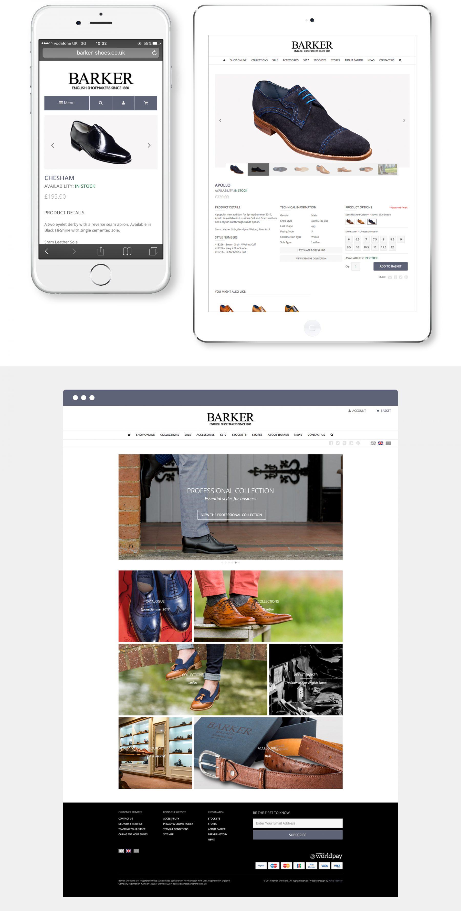 Barker Shoes – Ecommerce website design & build