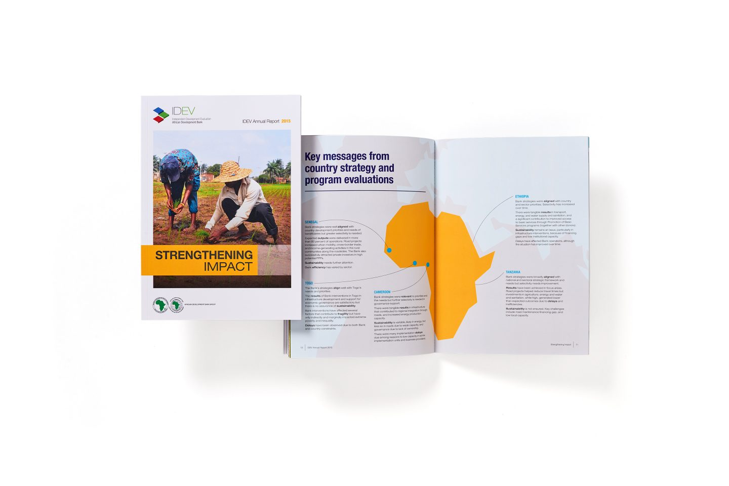AfDB IDEV – Annual Report – Front cover and spread