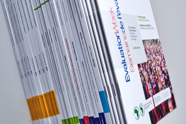 AfDB IDEV –Evaluation Week magazine – Spines