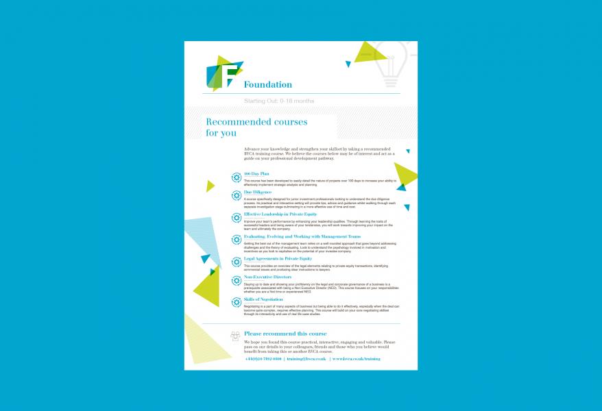 BVCA –Foundation course leaflet – Reverse