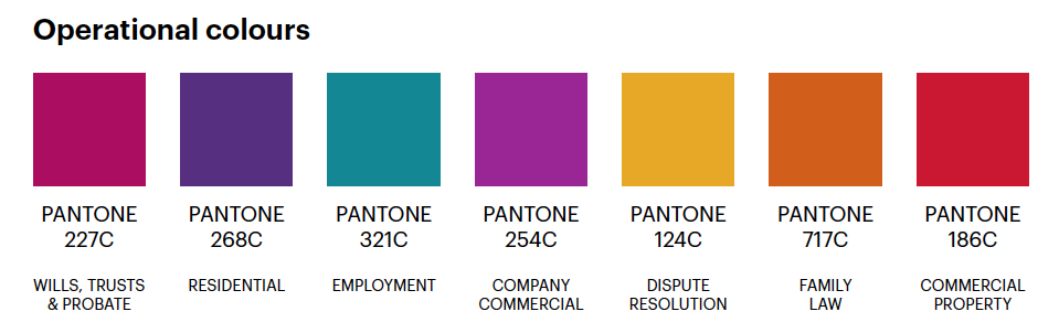 operational brand colours