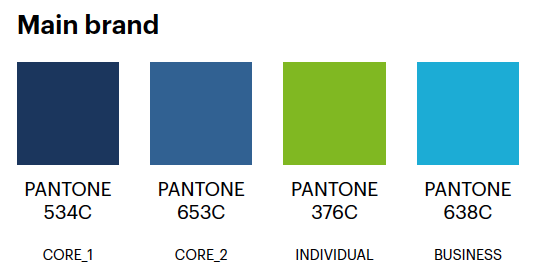 main brand colours